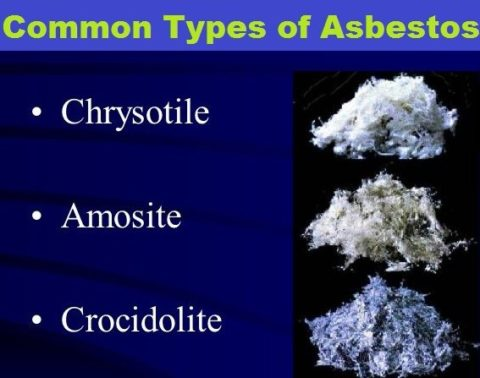 There are many types of Asbestos.